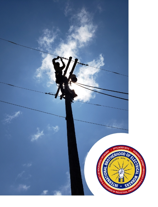 person fixing powerline